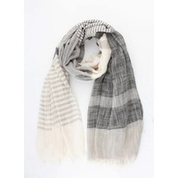 "Scarf ""Sare"" black/white"