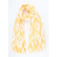 """Sjaal """"Afrika"""" geel"""