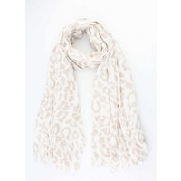 """Sjaal """"Colored Leopard"""" taupe"""