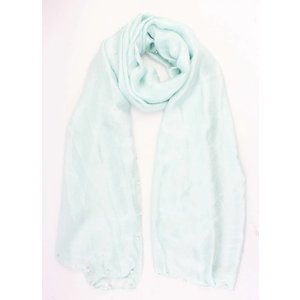 "Scarf ""Happy summer pearls"" mint Green"