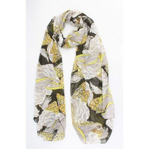 "Scarf ""Tropical fruit"" yellow/green"