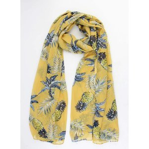 "Scarf ""Pineapple & Leaves"" yellow"