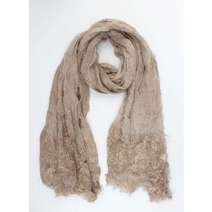 """Sjaal """"Summer vibes"""" taupe"""