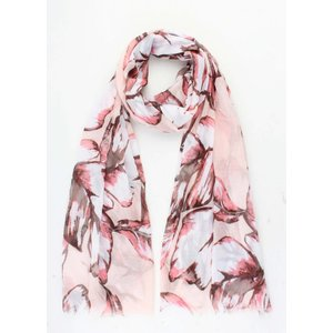 "Scarf ""Colored leaves"" pink"
