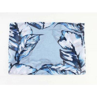 """Schal """"Bunte Blätter"""" blau"""
