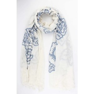 "Scarf ""Chic flowers"" blue"