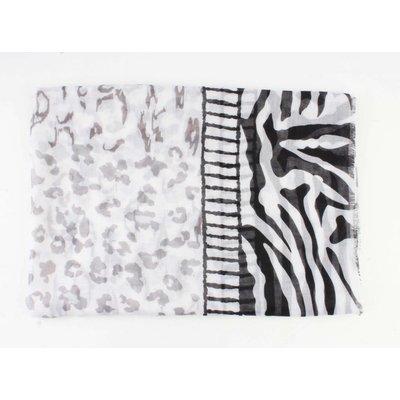 """Schal """"Zebra"""" grau/schwarz"""