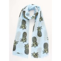 "Scarf ""Pineapple"" blue"