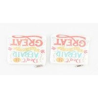 "Make up bag ""Be great"" white, per 2pcs."