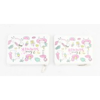 "Make up bag ""Love Summer"" white, per 2pcs."