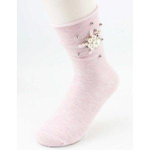 """Sokken """"Pearls flower"""" roze, per 2 paar"""