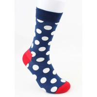 "Men's socks ""Crazy dots"" blue"
