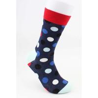 "Men's socks ""Crazy dots"" Red"