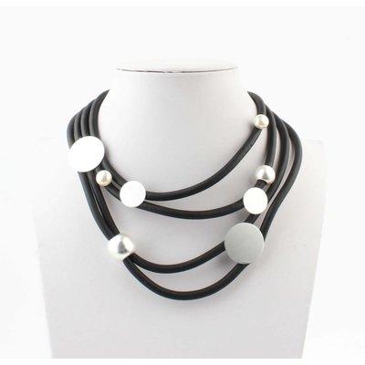 """Kürze Halskette """"Perle Mischung"""" schwarz"""