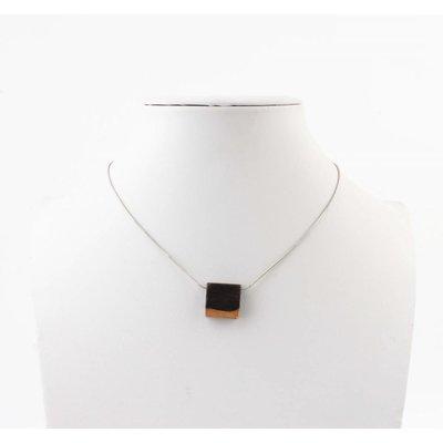 "Kürze Halskette ""Quadrat"" silber"
