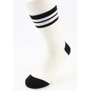 "Socks ""Mesh & Stripes"" black, per 2 pairs"