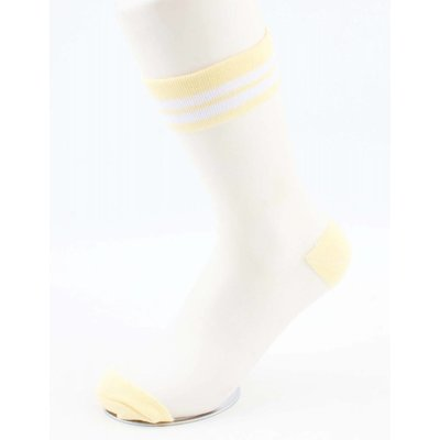 """Socken """"Mesh & Stripes"""" gelb, doppelpack"""