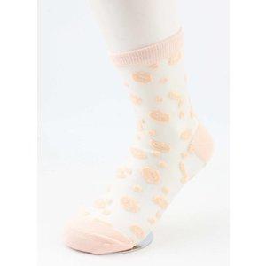 """Sokken """"Lips"""" oud roze, per 2 paar"""