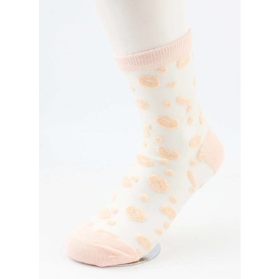 "Socken ""Lips"" altrosa, doppelpack"