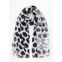 "Scarf ""Sequin dots"" black"