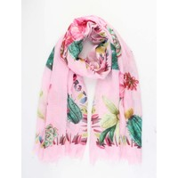 "Scarf ""Cactus"" pink"