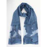 """Sjaal """"Vlinder"""" blauw"""
