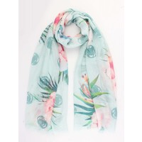 "Scarf ""Beautiful flower"" mint"