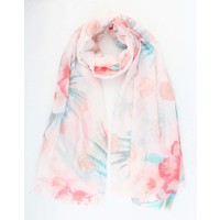 "Scarf ""Beautiful flower"" pink"