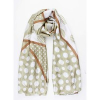 "Scarf ""Multi dots"" green"