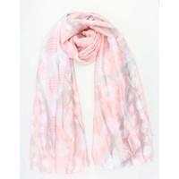 """Sjaal """"Multi dots"""" roze"""