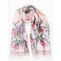 "Scarf ""Stars & Flowers"" pink"
