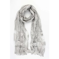 """Scarf """"Mesh & Butterfly"""" grey"""