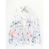"""Scarf """"Flower bed"""" white"""