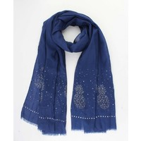 """Scarf """"Pineapple strass"""" blue"""