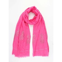 "Scarf ""Pineapple strass"" fuchsia"