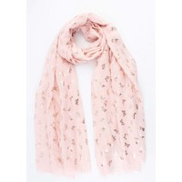 """Scarf """"Golden Butterfly"""" pink"""