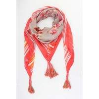 "Scarf square ""Freddy"" grey/red"
