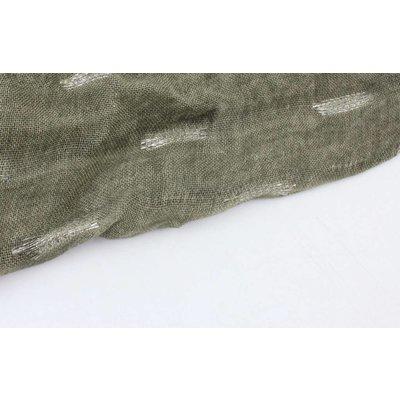 """Schal """"Lurex Streifen"""" grün"""