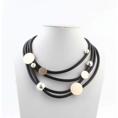 """Short necklace """"Pearl mix"""" rosé"""