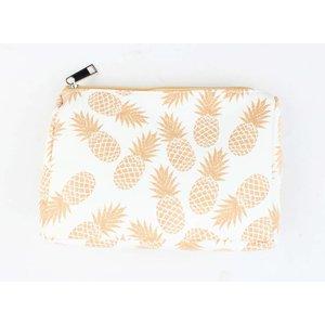 "Cosmetic bag ""Pineapple"" gold/yellow"