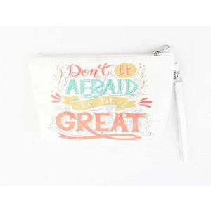 "Toilette Tasche ""Don't be afraid"" weiß"