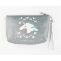 """Toilet bag """"You are magical"""" grey"""