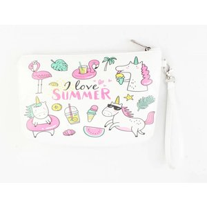 "Toilet bag ""I love summer"" white"
