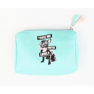 """Cosmetic bag """"you're lovely"""" aqua"""