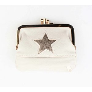 """Wallet small """"Star"""" off white"""