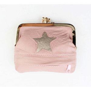 "Knip portemonnee small  ""Star"" roze"
