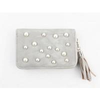 "Wallet small ""Pearls"" grey"