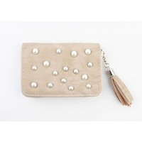 """Wallet small """"Pearls"""" taupe"""
