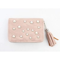 "Wallet small ""Pearls"" pink"