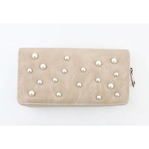 """Wallet """"Pearls"""" taupe"""